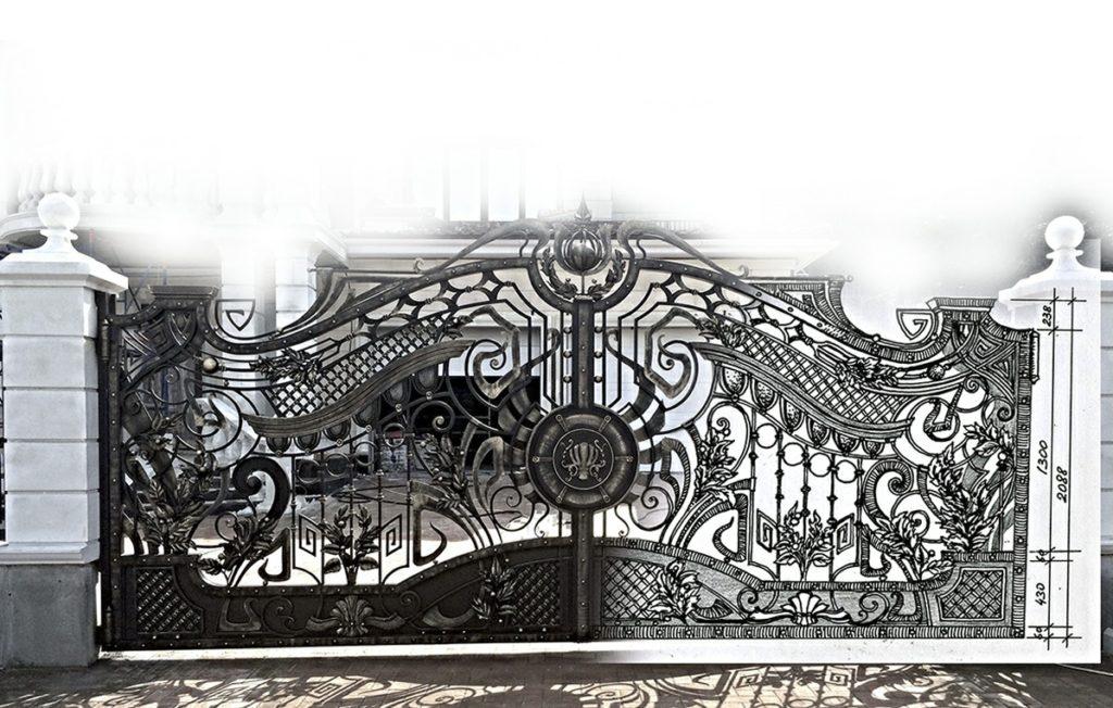 эскизы кованых заборов