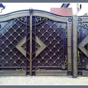 Кованые ворота Классические кованые ворота Лион Арт. В-016 Norkovka
