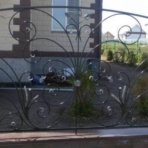 Кованые заборы Кованый забор чёрного цвета Арт. З-009 Norkovka