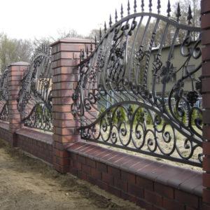 Кованые заборы Кованый забор без основы Арт. З-001 Norkovka