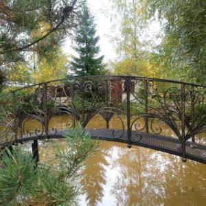 Кованые мосты Металлический кованый мост Арт. МО-012 Norkovka