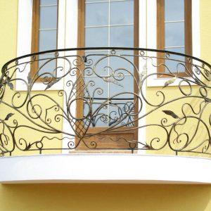 Кованые балконы Ажурный кованый балкон Арт. Б-006 Norkovka