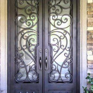 Кованые двери Кованая дверьми стеклом Арт. Д-009 Norkovka