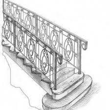 эскиз лестницы кованой норковка