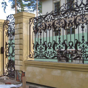 Кованые заборы Ажурный кованый забор Арт. З-003 Norkovka