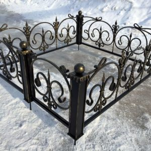 Кованые оградки Ритуальная кованая ограда на могилку Арт 15 Norkovka
